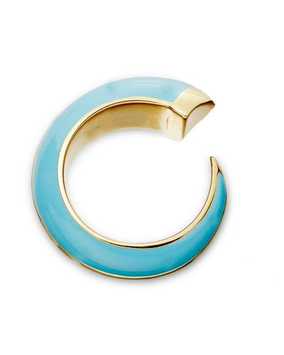 Turquoise Horn Wrap Ring