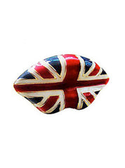 Union Jack Lips Ring