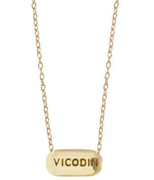 Vicodin Necklace