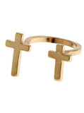 Vintage Double Cross Ring