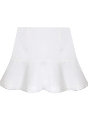 White Fluted Mini Skirt