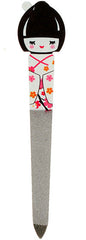 White Geisha Girl Nail File