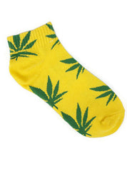 Yellow Plantlife Ankle Socks