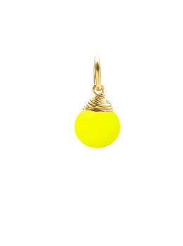 Yellow Drop Charm