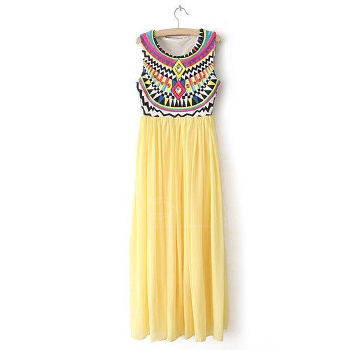 Sunrise Tribal Maxi Dress