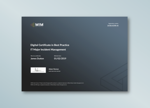 Digital Certification in Best Practice IT Major Incident Management