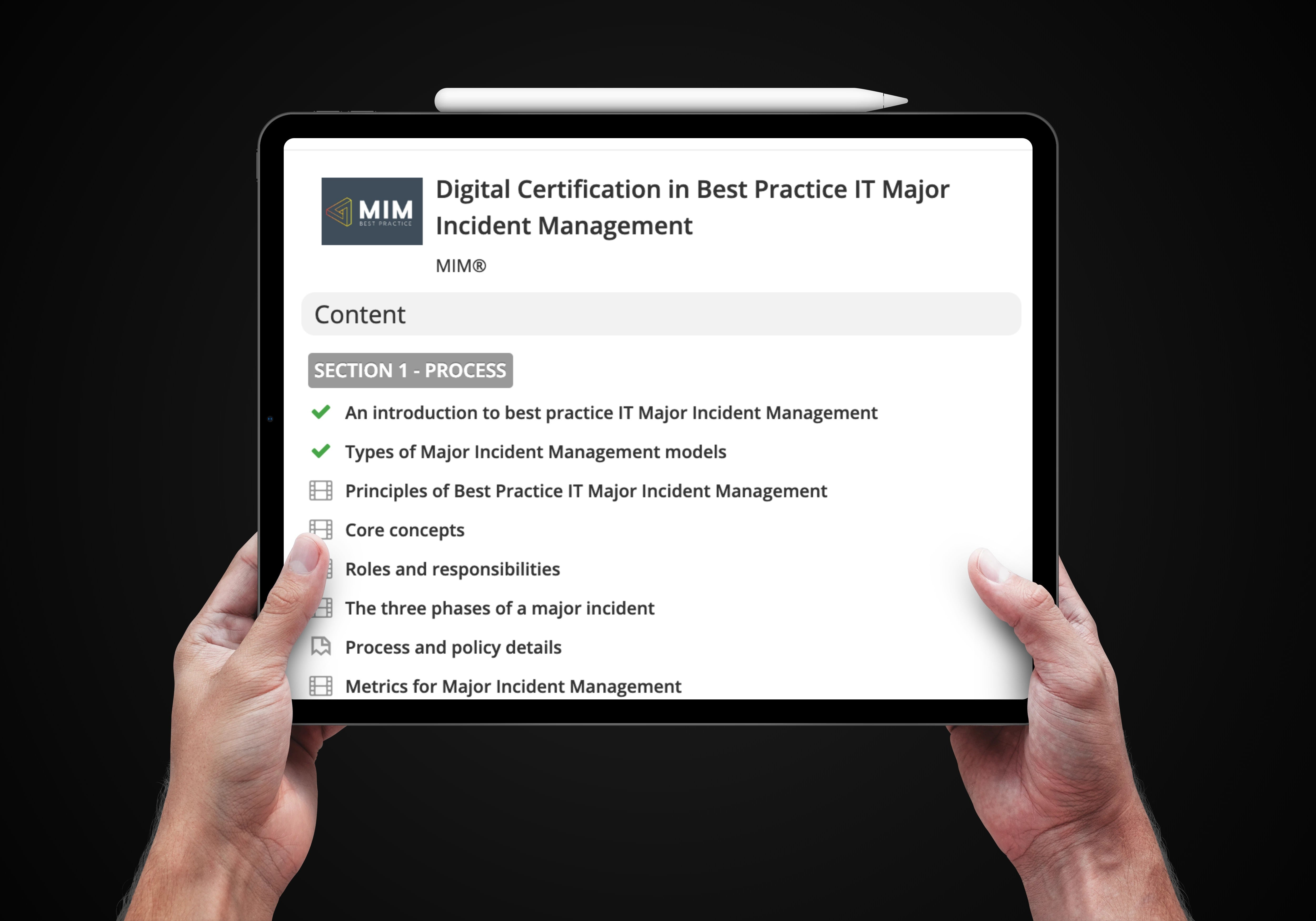 3-payment plan options for the Digital Training and Certification in Best Practice IT Major Incident Management