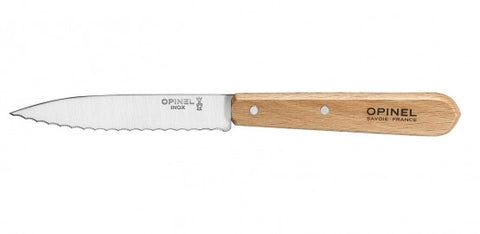 Opinel Serrated Paring Knife No 113 - Beech Handle