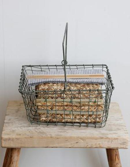 Fog Linen Work Storage Basket