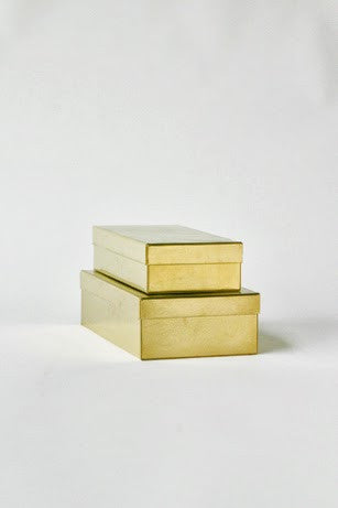 Rectangular box - Brass S