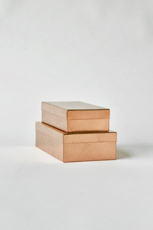 Rectangular box - Copper S