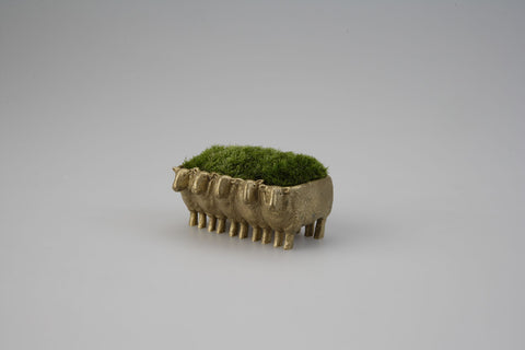 NOUSAKU Brass Sheep Moss Planter
