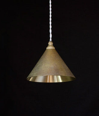 FUTAGAMI IHADA BRASS CONE LAMPSHADE - POLISHED INTERIOR