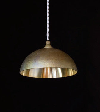 FUTAGAMI IHADA BRASS HEMISPHERE LAMPSHADE - POLISHED INTERIOR