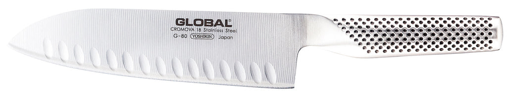 GLOBAL G-80 Fluted 18cm Santoku Knife