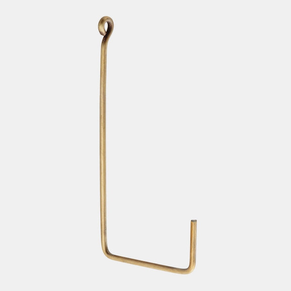 Fog Linen Work Single Hook - Brass