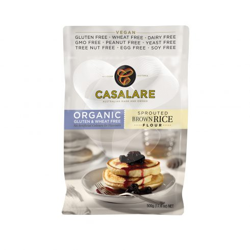 Casalare Organic Sprouted Brown Rice Flour 500g