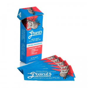 Grants toothpaste travel sachets