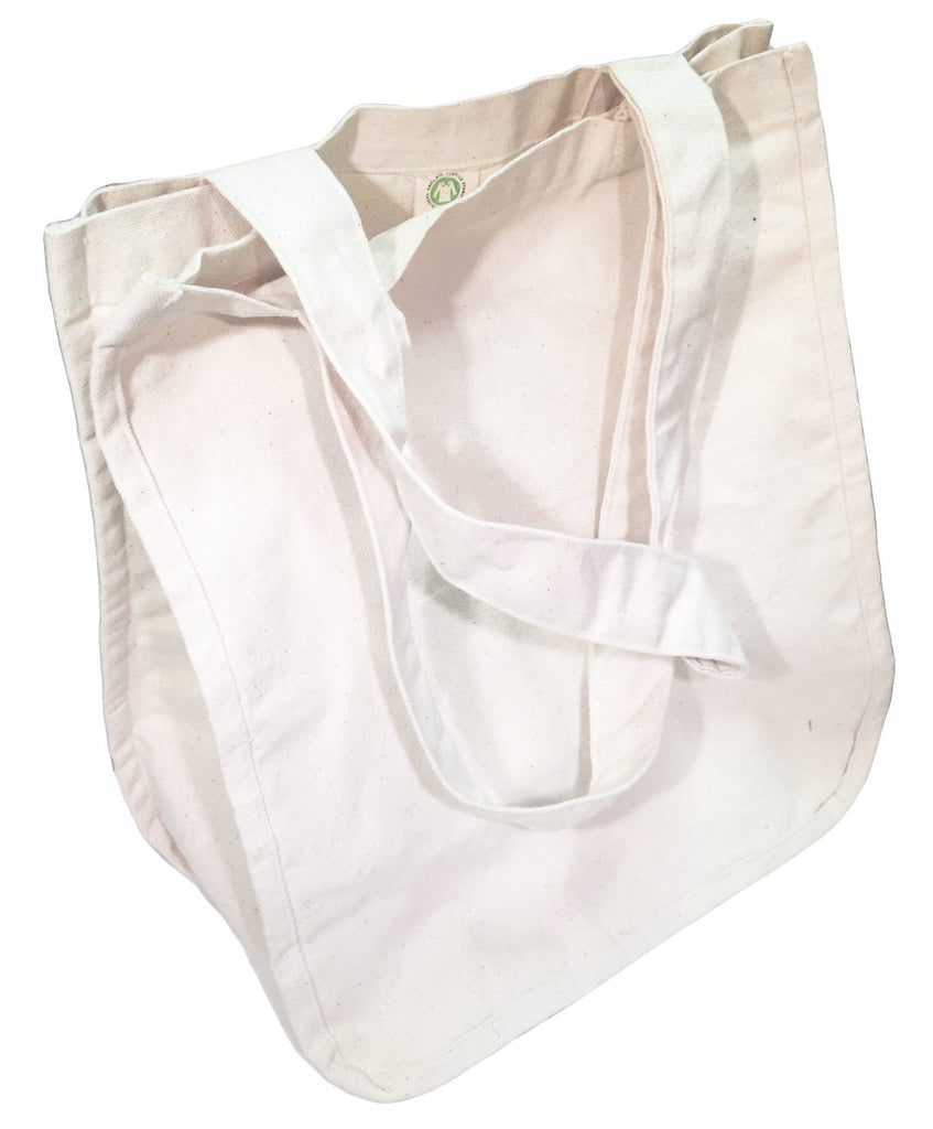 Large Organic Cotton Canvas Shopper Bag