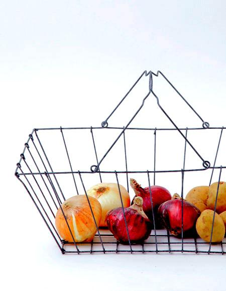 Fog Linen Work Grocery Basket