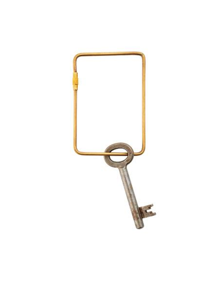 Fog Linen Work Key Ring Large