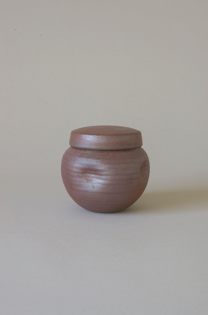 Sandra Bowkett Woodfired Lidded Jar #4