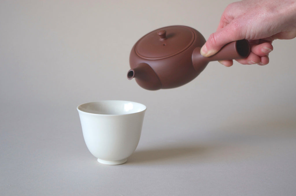 Oval Teapot Side Handle - Red clay