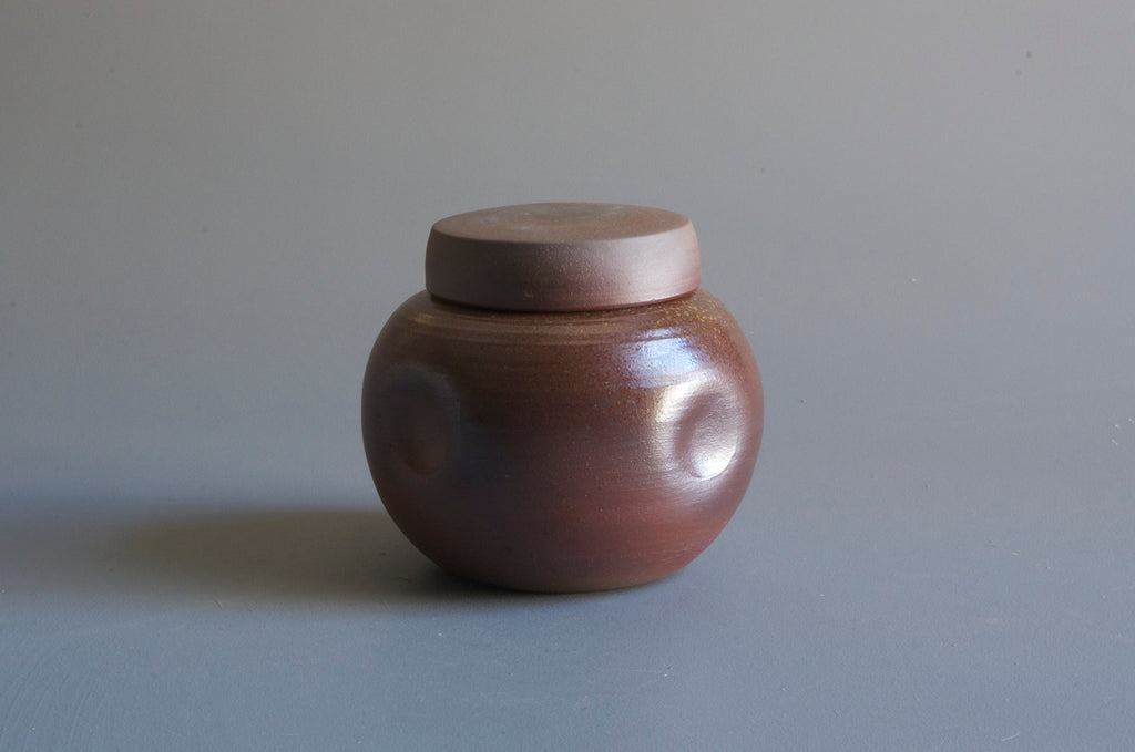 Sandra Bowkett Woodfired Lidded Vessel #2