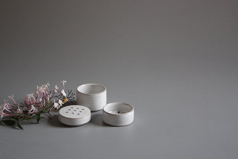 Jane Heng Ikebana Stack with dot lid