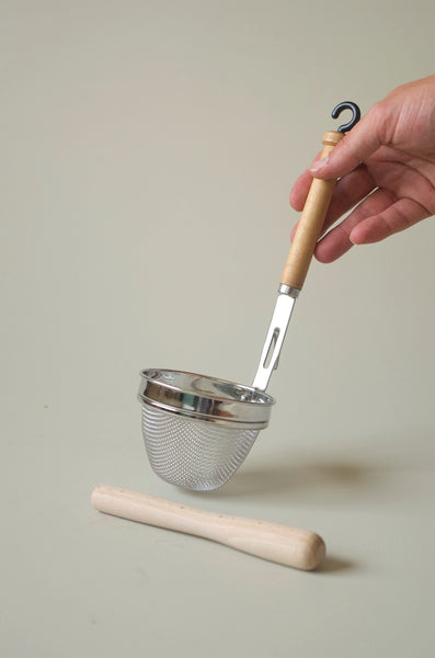 Kobo Aizawa Miso Soup Strainer with Wooden Pestle