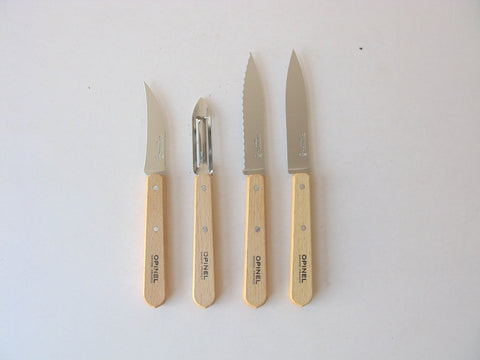 Opinel Kitchen Essentials Set of 4 - natural beech