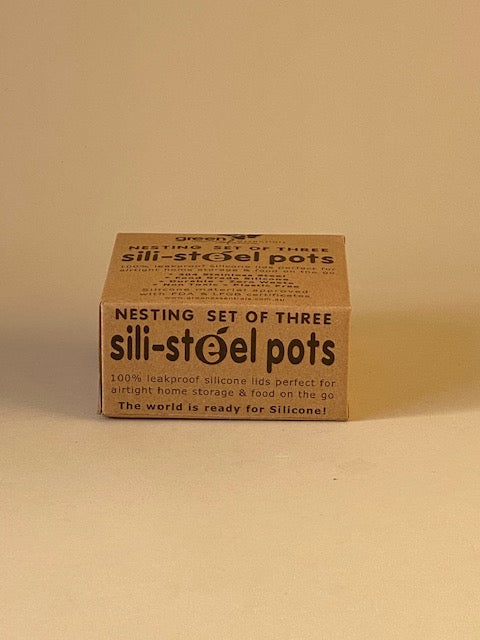 Sili-Steel Pots - Nesting Set of 3