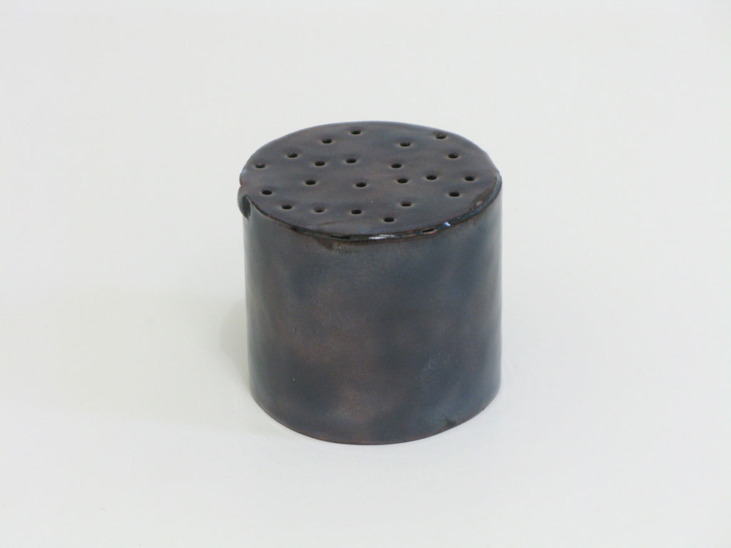 IRL043 Niamh Minogue 'Perforated Cylinder' Copper, vitreous enamel