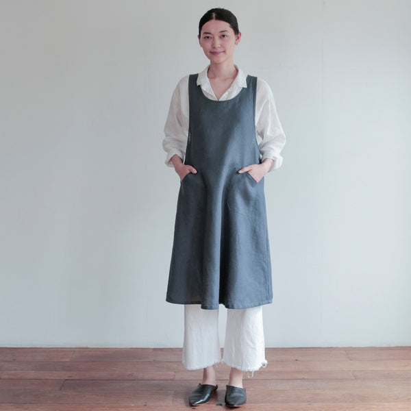 Fog Linen Work Linen Over Dress Apron