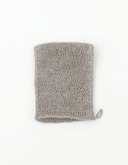Fog Linen Work linen body wash cloth bath mitten