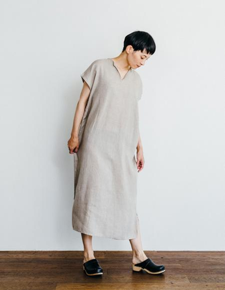 Fog Linen Work Lily French Sleeve Night Shirt