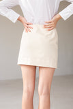 Lois Hazel Rise Skirt Cream