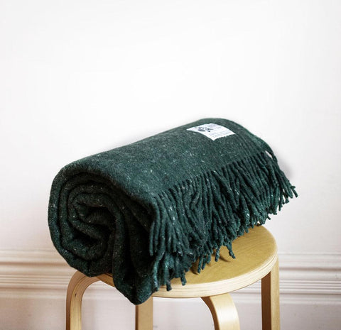 Seljak Recycled Wool Blanket - Pine