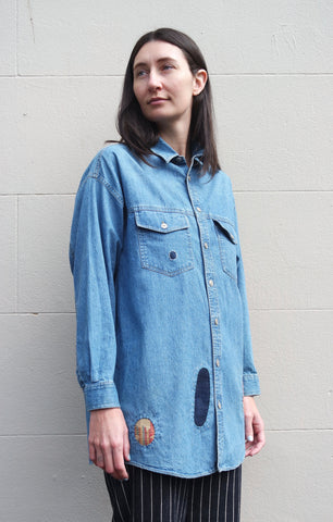 ReWork  Denim Patch Shirt