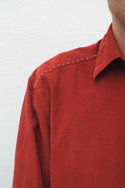 ReWork Rust Red Cord Shirt