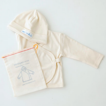 Fog Linen Work Organic Cotton Cap + Cardigan