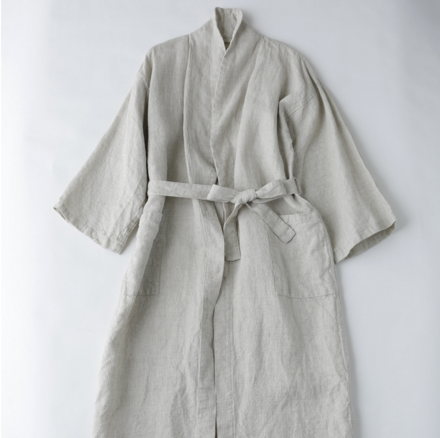 Fog Linen Work Washed Waffle Bathrobe