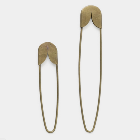 Fog Linen Work Brass Safety Pin
