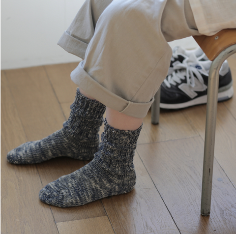 Fog Linen Work Cotton Mix Socks