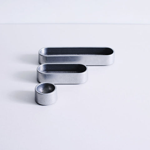 Henry Wilson Stack Tray set of 3 Aluminium