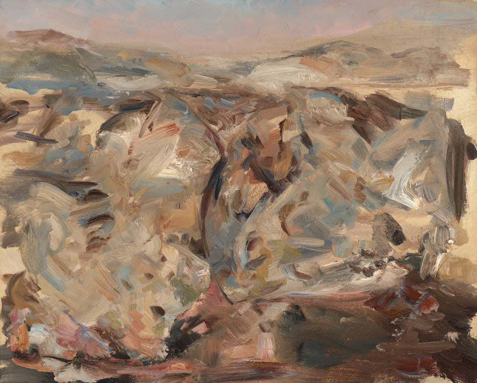 Paul Williams, Stony Desert, oil on linen, 2017