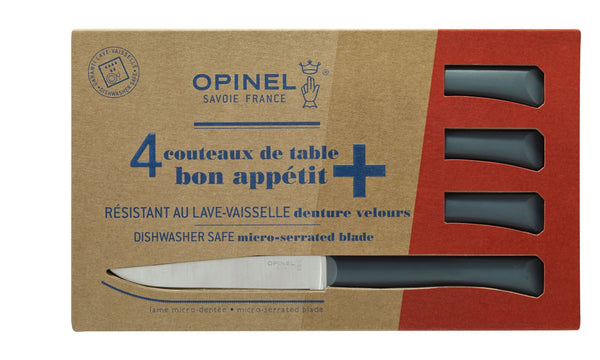 Bon Appetit + Microserrated Table Knives Set of 4 - Pepper Grey
