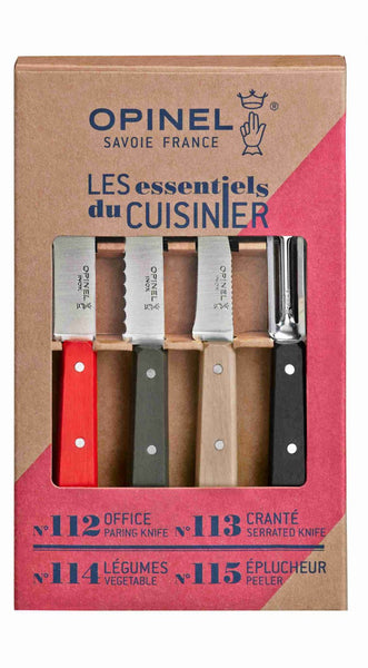 Opinel Kitchen Essentials Set of 4 - Colour