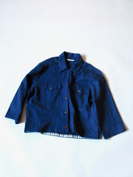 ReWork cotton/linen crop jacket