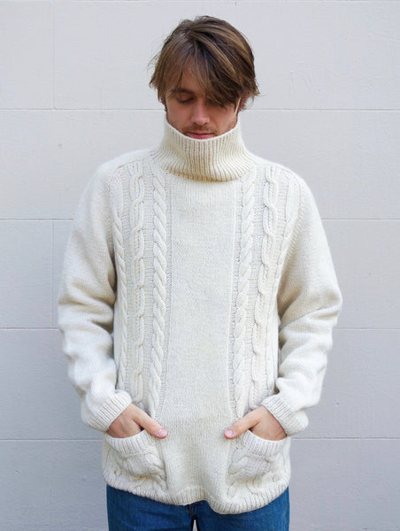 Kitly Collected Cream Turtleneck with Pockets